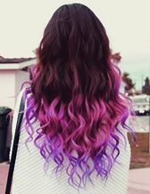Striking purple dip dye <3