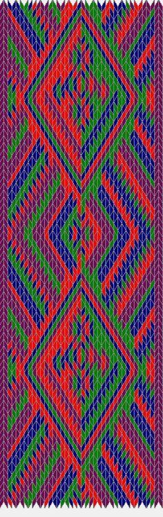 Otra combinación de colores para el diseño de 40 tarjetas - Rombos y cruces
