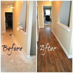 Down to Earth Style: Hallway vinyl Floor - $150 - Lowe's color is Antique Woodland Oak