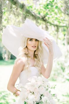Southern Sway - WedLuxe Magazine  #hat #weddinginspo #bridallook