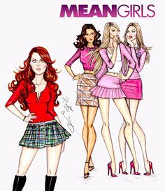 """Mean Girls"" by Hayden Williams Fashion Illustrations"