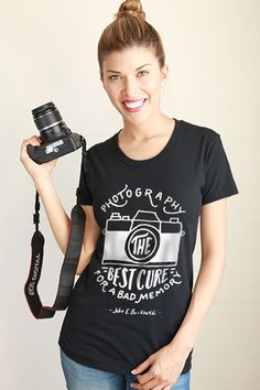 """""""Photography Best Cure for Bad Memory """" Woman tee - photographer gift"""