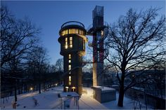 A water tower in Germany. Photo: Andreas Meichsner for The New York Times