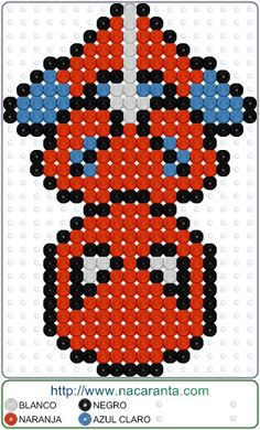plantillas hama beads Spiderman down en P - beading Perler Bead Templates, Diy Perler Beads, Perler Bead Art, Hama Beads Minecraft, Minecraft Crafts, Pearler Beads, Melty Bead Patterns, Pearler Bead Patterns, Beading Patterns