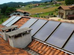 Paneles en el tejado
