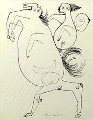 Man and Horse, Lucebert