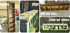 Thrift Store Crafts (upcycling a slender book case into a bench with storage under it *love*) Furniture Projects, Furniture Makeover, Diy Furniture, Antique Furniture, Classroom Furniture, Furniture Cleaning, Western Furniture, Distressed Furniture, Painted Furniture
