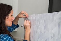 How to Cover a Refrigerator With Removable Wallpaper | Interior Design Styles and Color Schemes for Home Decorating | HGTV >> http://www.hgtv.com/design/decorating/design-101/how-to-cover-a-refrigerator-with-removable-wallpaper?soc=pinterest