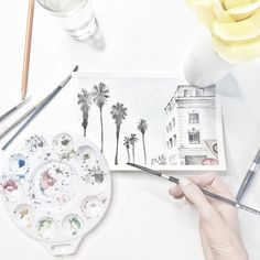 <at last> finally inspired to get this watercolour workshop up and running! If you want to learn watercolours, head to thewonderforest.com/watercolours and sign up to be notified when the workshop launches! Now a question for you... What would you LOVE to learn how to do with watercolours??