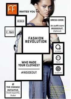 Become part of Fashion Revolution Day in Dubai on April 24th & play your part to create a positive impact. Here are all the details for the day.