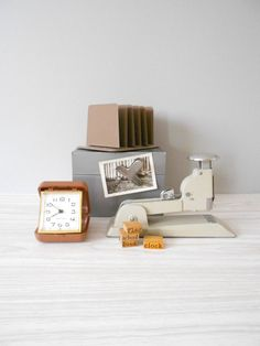Instant Industrial Vintage Office Supplies by simplychi, $45.00