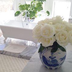 #bath time #roses #clawfoottub