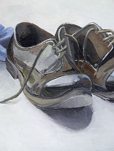 shoes painting by Sergey Maurin, via Behance