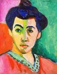 Henri Matisse; madama Matisse; olio su tela; 1906;  Copenaghe,Statene Museum for Kunst.