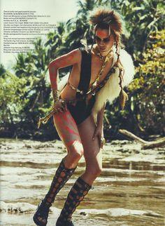 Vogue Netherlands | May 2012 | Once were warriorsModel: Rianne ten HakenPhotographer: Petrovsky & RamoneStylist: Marije Goekoop  See more of this editorialhere.