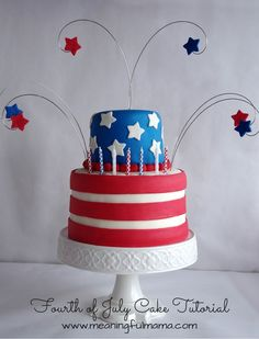 Fourth of July Cake Tutorial and Decorating Tips
