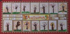 A super Autumn Finger Painting classroom display photo contribution. Great ideas for your classroom! Autumn Display Classroom, Autumn Display Eyfs, Autumn Display Boards, Classroom Displays, Autumn Display Ideas Nursery, Autumn Displays, Eyfs Classroom, Autumn Crafts, Autumn Art