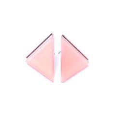 Materiál perspexPuzetka chir.ocel - hypoalergenni Barva starorůžová plus podklad zrcadlo Rozměry náušnice 3,5 cm x 3,5 cm