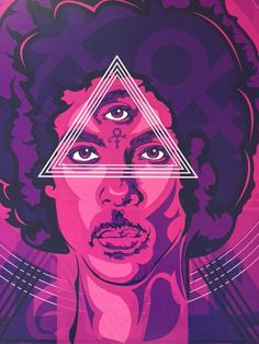 Prince Third Eye Purple Digital Art Print by taylorlindgrenart
