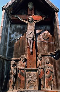 '<br /> <br /> The crucifix (troita) at Berbesti is a masterpiece of century woodcarving. Wolf People, Carpathian Mountains, Sacred Art, Eastern Europe, 17th Century, Sheep, Medieval, Lion Sculpture, Carving Wood