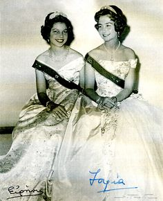Princess Irene of Greece and Denmark with her older sister Princess Sophia (now Queen Sofia of Spain.