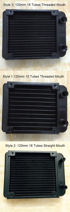 120mm Threaded/Straight Mouth 10/18 Tubes Water Cooling Row Radiator Heat Exchanger Computer PC Cooling Row Industrial Row