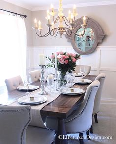 My navy dining room The color is hale navy by Benjamin Moore I