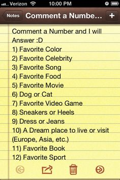 This'll be fun!  Comment away!