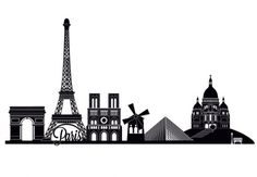 Wall Stickers Paris Skyline 2 - wall-art.com
