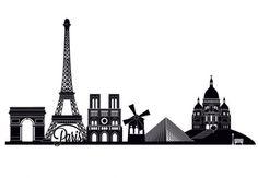 Wall Stickers Paris Skyline 2 - wall-art.com