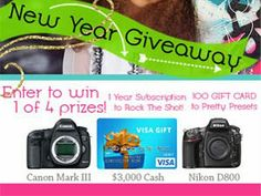 There will be 4 lucky winners in January Photography Worldwide Giveaway - Join & win a DSLR Camera or $3000 Cash