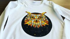 Hand painted T-shirt. 100% of the price will be donated to charity. Shop at www.katreative.bigcartel.com  Contact me for custom orders (other sizes, tank tops, T-shirts, longsleeves for men and women all possible).