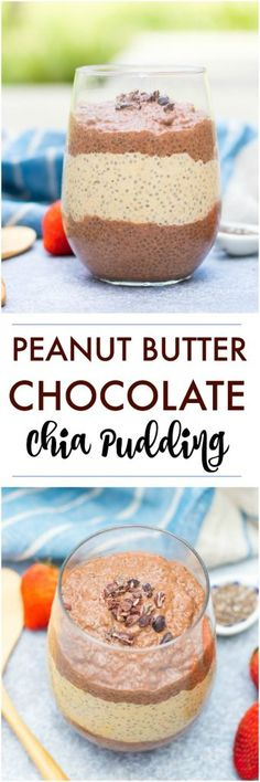 This peanut butter chocolate chia pudding recipe is prefect for overnight! Unsweetened almond milk, a touch of vanilla and maple and a healthy breakfast or snack--you choose! #chiapudding #chiaseeds #overnightchiapudding #breakfast