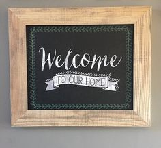 Welcome To Our Home // Welcome Sign // by cmorrisdesigns on Etsy