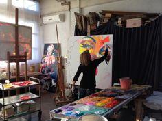 Marilyn-et-moi - Francoise Nielly at work