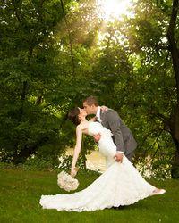 dip kiss. wedding photography