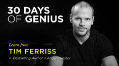 Chase Jarvis welcomes Tim Ferriss as his guest on 30 Days of Genius, a special series of Chase Jarvis LIVE featuring the world's top creative + entrepreneurial minds of our time. Get more actionable insights: http://cr8.lv/1OkIzRH