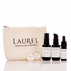 The Oily Travel Set for oily and combination skin is the best way to try out the Laurel Skin line, on the road or at home. Everything you need is included, whether you're just getting started with a new regimen, or getting on a plane with your Laurel favorites!  Suitable For: Oily / Combination / Acneic / Congested / Inflamed Skin Types  The Oily Travel Set includes travel sizes of: Support Cleanser, Hydrating Elixir II, Balance Serum, Almond Rose Exfoliant, and Citrus Spice Lip Treatment.