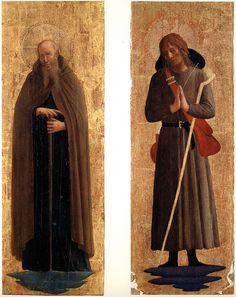 Фра Angelico.SanMarco.altar.St. Энтони Abott;. St.Roch [ChicagoAI; Альтенбург] по arthistory390 через Flickr