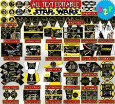 Printable Birthday Package STAR WARS by BirthdayPartyStudio