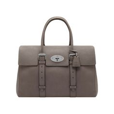 New Mulberry Arrivals for Men - Oversized Bayswater in Grey Soft Grain