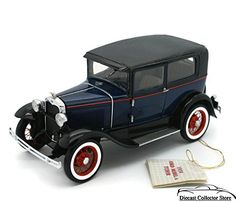 Franklin Mint 1930 Ford Model A Tudor Pebble Beach Limited Edition # 1617 of only 4,500 Made Mint in factory box with Certificate of Authenticity, hang tag and all other papers 1:24 Scale Model B11Z12... read more