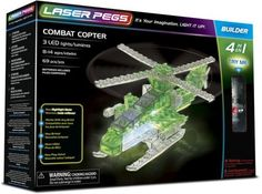 Laser pegs 4 in 1 Combat Copter