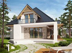 projekt Amira G1 WRC2606 Bungalow Renovation, Bungalow House Plans, House Extension Design, House Front Design, House Cladding, Facade House, Modern Bungalow Exterior, Minimal House Design, A Frame House Plans