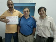 Con Fernando Roig apoyando la Paz en Venezuela