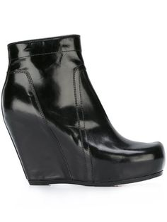 RICK OWENS Platform Wedge Boots. #rickowens #shoes #boots