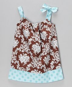 Another great find on #zulily! Brown Damask Swing Dress - Infant, Toddler & Girls by Swag #zulilyfinds