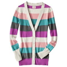 Oatmeal Striped Cardigan  Mossimo Supply Co. (Target) $19.99