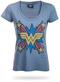 Wonder Woman Retro Scoop-Neck Ladies' Tee from ThinkGeek on Catalog Spree, my personal digital mall.
