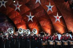 The Boston Crusaders drum and bugle corps took to the stage during the 42d Boston Pops Fireworks Spectacular at the DCR Hatch Shell Saturday.